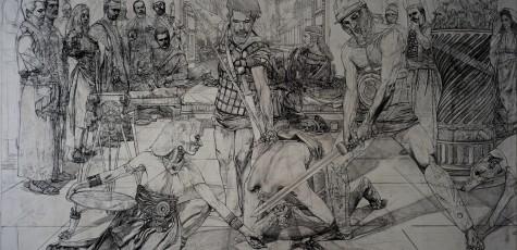 St John_Drawing on Canvas