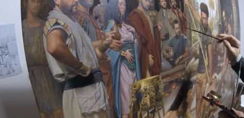 """Brief painting process for """"The Beheading of Saint John Apostle"""""""